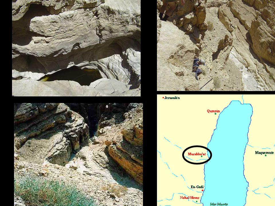 Entre el 21 de enero y el 3 de marzo de 1952 se llevaron a cabo trabajos de exploración en las grutas del Wadi Murabba'at, situadas en un punto de muy difícil acceso, 25 kilómetros al sudeste de Jerusalén y a casi 5 kilómetros del Mar Muerto. studio que se hizo de los textos de estas grutas demostró que tenían un origen distinto a los encontrados en Qumran. En efecto, durante el segundo levantamiento judío, ocurrido entre los años 132-135 d.C., las grutas de Wadi Murabba'at sirvieron de guarida a los soldados de Bar Kokeba y entre los documentos hallados en este lugar figuran varias cartas enviadas por el jefe judío al comandante rebelde de la región [http://www.quedelibros.com/libro/67941/El-evangelio-de-la-salud.html]